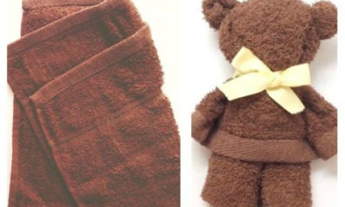 Kako napraviti medvjedića od ručnika?