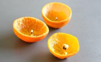 Kako napraviti svijeću od naranče ?