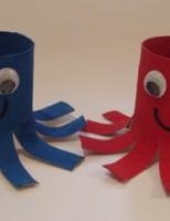Kako napraviti hobotnicu koristeći rolu toaletnog papira?
