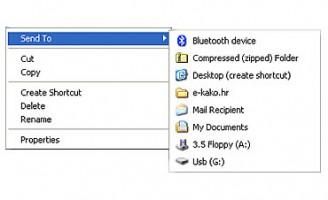 """Kako u """"Send to"""" dodati omiljene foldere?"""