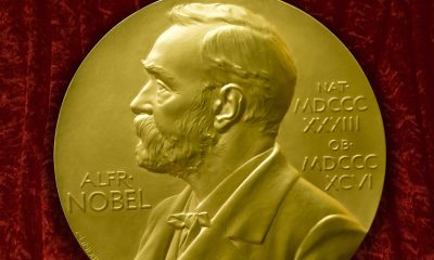 Johannes V. Jensens Nobel Prize winner medal from 1944 (Photo by: myLoupe/Universal Images Group via Getty Images)