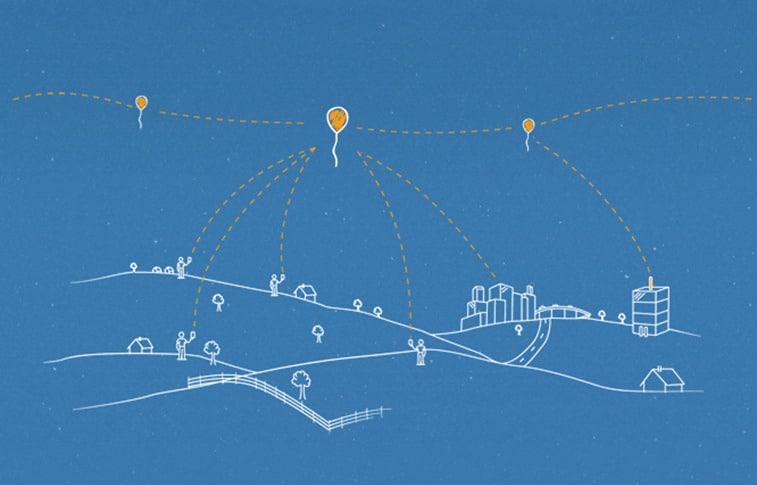 Prikaz djelovanja internetskih balona