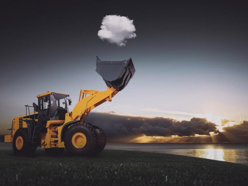 Oblak uhvaćen na gradilištu
