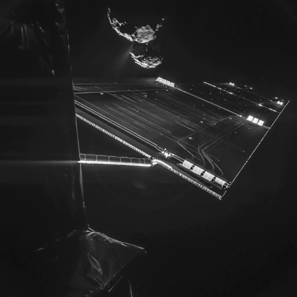Svemirski selfie: sonda Rosetta i komet