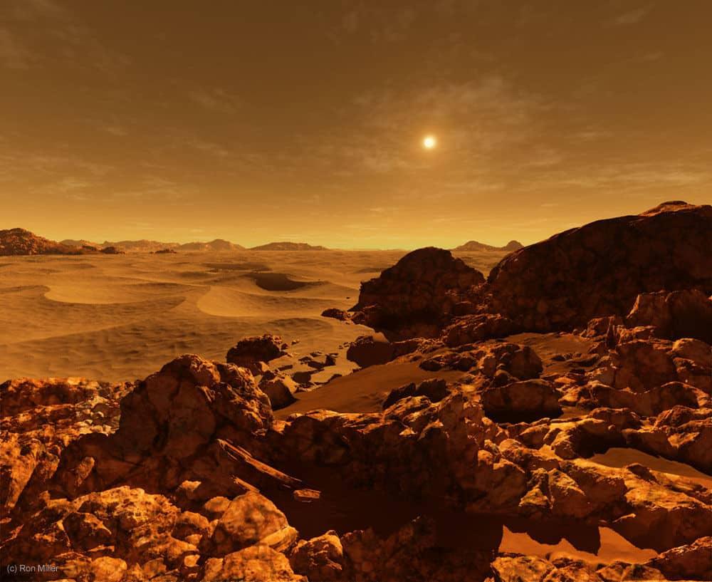 Pusta, mrtva površina Marsa ostavlja sablastan dojam (Credit: Ron Miller)