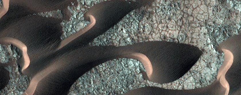 Dine na području Nili Patere (FOTO: NASA/JPL/University of Arizona)