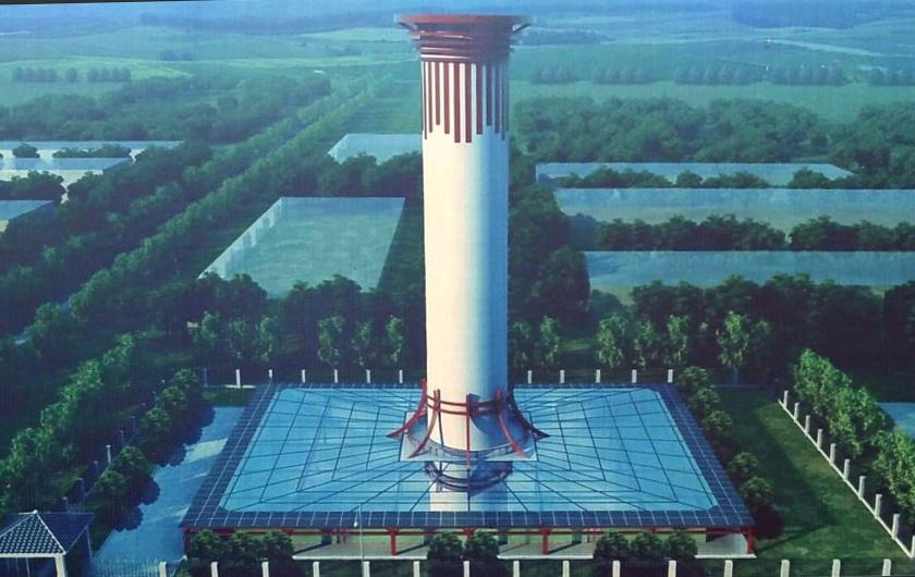 kina sagradila 100 m visok toranj za prociscavanje zraka